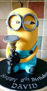 boys birthday cake minion