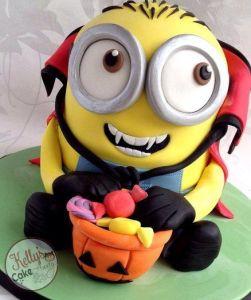 halloween minion cake